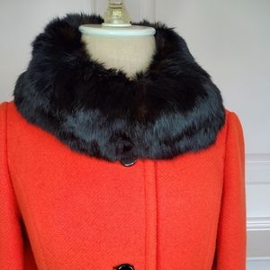 Jackets & Blazers - AUTHENTIC LILLI ANN Wool Coat with Mink Trim